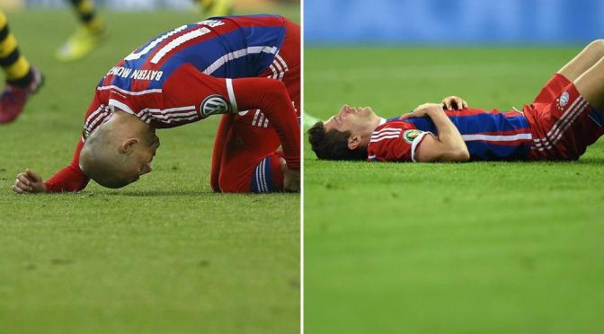 Robben out for season, Lewandowski suffers concussion & breaks jaw